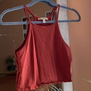 Express cropped halter top